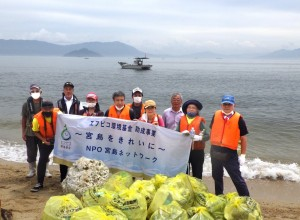 青海苔浦海岸清掃記念撮影
